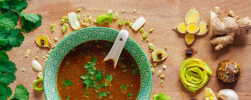 Recette Détox d'automne : soupe crue aux épices thaï