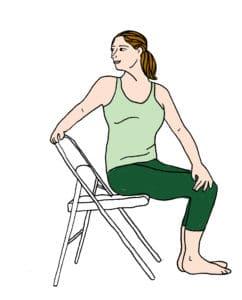 Posture Yoga bureau 3