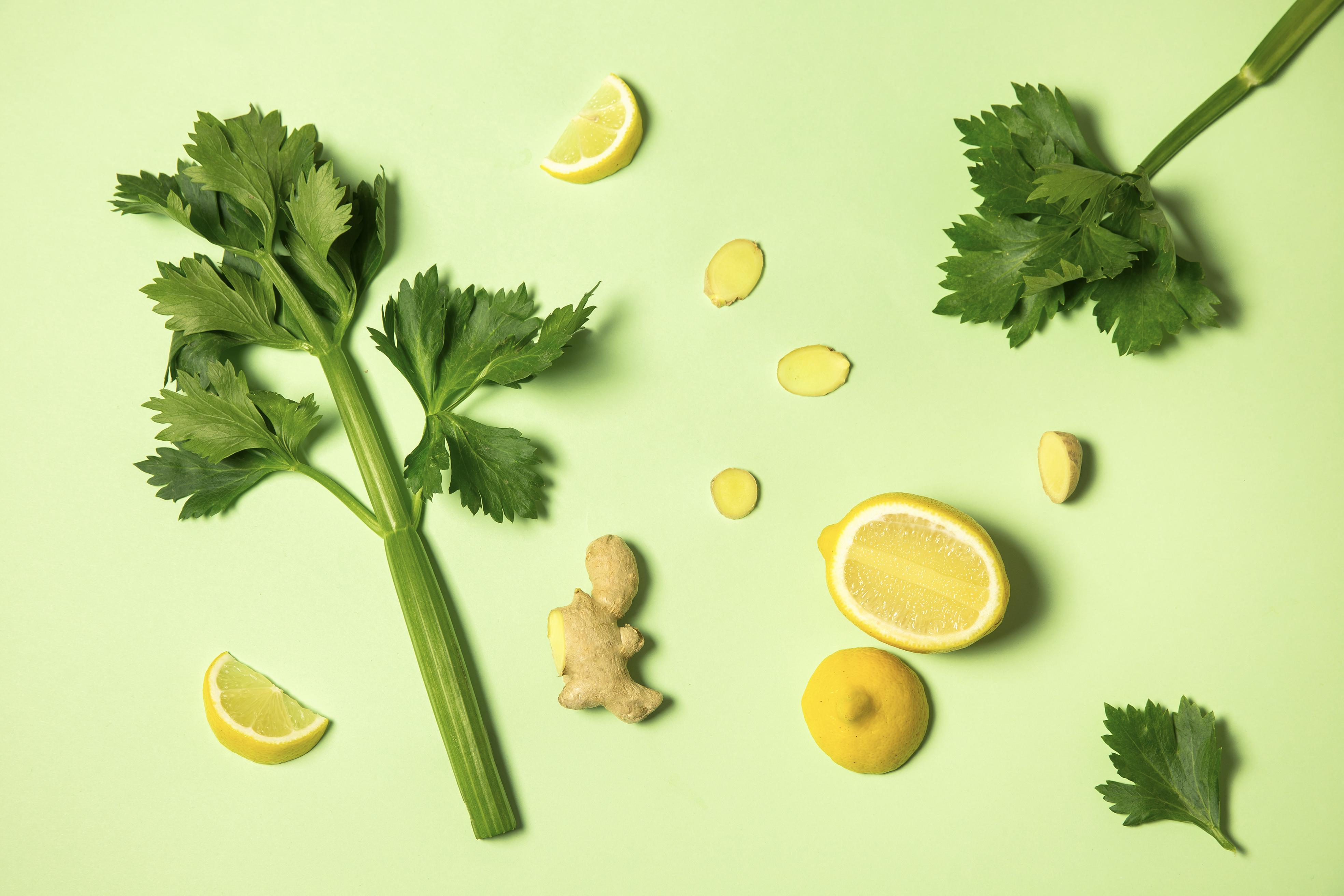 Céleri, citron et gingembre