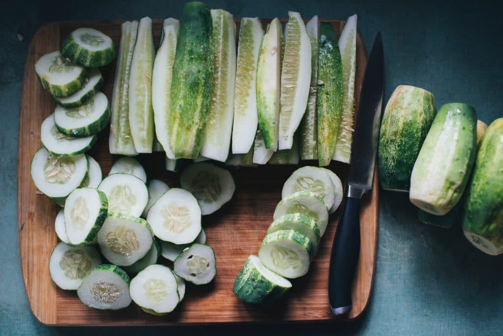 Le concombre pour les jus verts